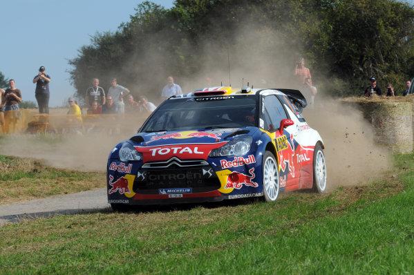 Round 09 - Rally Deutschland 18-21 August 2011.Sebastien Loeb, Citroen WRC, Action.Worldwide Copyright: McKlein/LAT