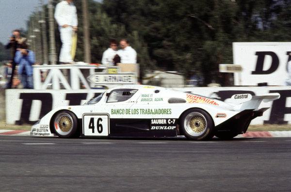 1983 Le Mans 24 Hours Le Mans, France 1983 Garcia/Naon/Diego Montoya (uncle of), Sauber C7. 9th Place World Copyright - LAT Photographic. Re: 83LM20.