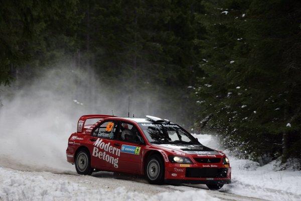 2006 FIA World Rally Champs. Round two Swedish Rally.2nd-5th February 2006.Daniel Carlsson, Mitsubishi, action.World Copyright: McKlein/LAT