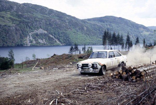 1978 British Rally Championship.Scottish Rally, Scotland, Great Britain. 4-6 June 1978.Hannu Mikkola/Arne Hertz (Ford Escort RS1800), 1st position.World Copyright: LAT PhotographicRef: 35mm transparency 78RALLY20