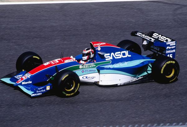 1994 Pacific Grand Prix.Aida, Japan. 15-17 April 1994.Aguri Suzuki (Jordan 194 Hart).Ref-94 PAC 36.World Copyright - LAT Photographic