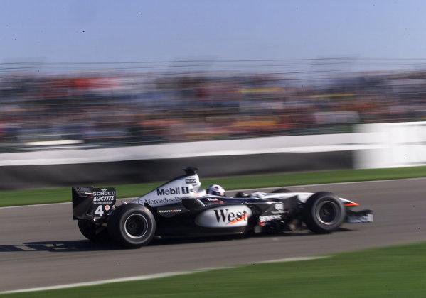 2001 American Grand Prix - QualifyingIndianapolis, United States. 29th September 2001.David Coulthard, West McLaren Mercedes MP4/16, action.World Copyright: Steve Etherington/LAT Photographicref: 18mb Digital Image