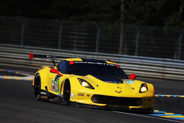 2017 Le Mans 24 Hours Circuit de la Sarthe, Le Mans, France. Wednesday 14 June 2017 #64 Corvette Racing-GM Chevrolet Corvette C7.R: Oliver Gavin, Tommy Milner, Marcel Fassler  World Copyright: JEP/LAT Images