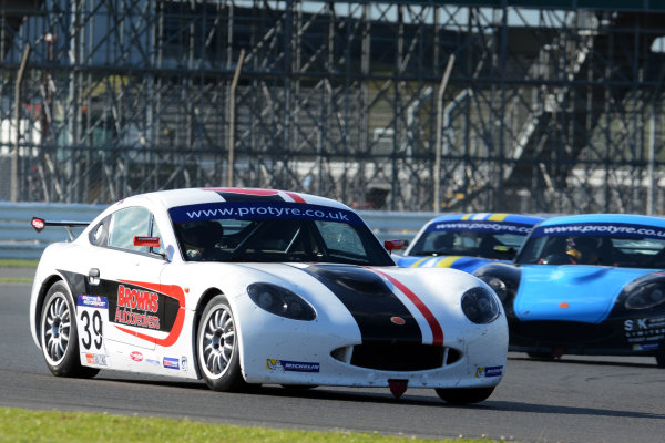 2017 Ginetta GT5 Challenge and GRDC+, Silverstone, 11th-12th June 2017, Lewis Brown Ginetta G40. World copyright. JEP/LAT Images
