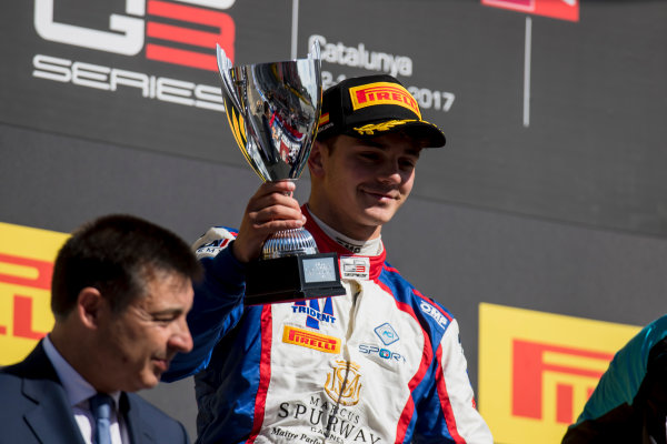 2017 GP3 Series Round 1.  Circuit de Catalunya, Barcelona, Spain. Sunday 14 May 2017. Dorian Boccolacci (FRA, Trident)  Photo: Zak Mauger/GP3 Series Media Service. ref: Digital Image _54I9496