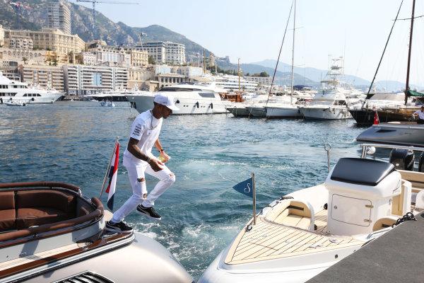 Monte Carlo, Monaco. Sunday 28 May 2017. Lewis Hamilton, Mercedes AMG.  World Copyright: Zak Mauger/LAT Images ref: Digital Image DJ5R1247