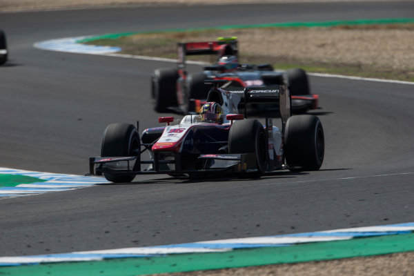 2017 FIA Formula 2 Round 10. Circuito de Jerez, Jerez, Spain. Saturday 7 October 2017. Nabil Jeffri (MAS, Trident).  Photo: Andrew Ferraro/FIA Formula 2. ref: Digital Image _FER2121