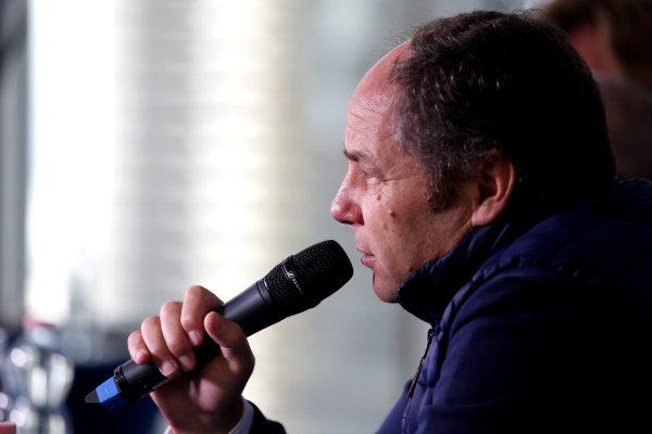 2017 DTM Round 9  Hockenheimring, Germany  Sunday 15 October 2017. Press Conference: Gerhard Berger, ITR Chairman  World Copyright: Alexander Trienitz/LAT Images ref: Digital Image 2017-DTM-HH2-AT2-1309