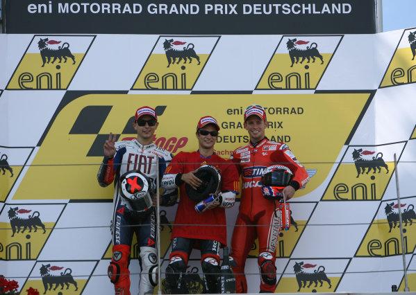 Germany Sachsenring 16-18 July 2010MotoGP podium
