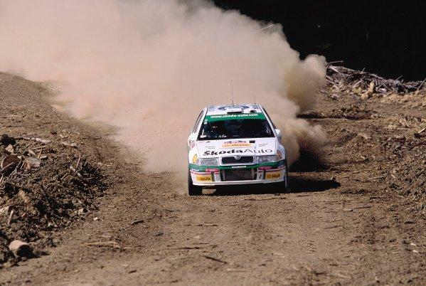 2003 World Rally ChampionshipRally New Zealand. 9th - 13th April 2003.Toni Gardemeister/Paavo Lukander (Skoda Octavia WRC EVO 3), 5th position.World Copyright: LAT Photographicref: 35mm Image A22