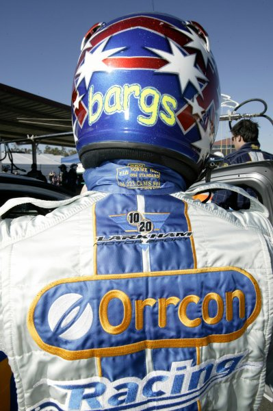 2004 Australian V8 Supercarsrd 6, Queensland Raceway, Brisbane. 4th July.Bargs, helmet.World Copyright: Mark Horsburgh/LAT Photographicref: Digital Image Only