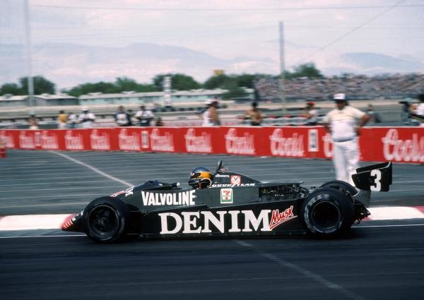 Winner Michele Alboreto(ITA) Tyrrell US GP, Las Vegas, 25 September 1982