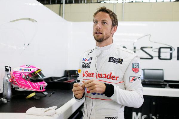 Interlagos, Sao Paulo, Brazil. Saturday 8 November 2014. Jenson Button, McLaren. World Copyright: Steven Tee/LAT Photographic. ref: Digital Image _X0W6790