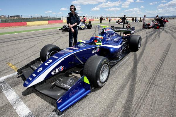 ALCANIZ (ESP) MAY 4-6 2012 -  First Round of the Formula Renault 3 5 Series 2012 at Motorland Aragon. Will Stevens #2 Carlin. Action. © 2012 Sebastiaan Rozendaal / LAT Photographic