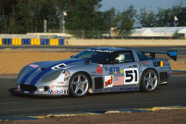 1994 Le Mans 24 Hours. Le Mans, France. 18th - 19th June 1994. Boris Said/Michel Maisonneuve/Frank Jelinski (Callaway Corvette), DQ, action.  World Copyright: LAT Photographic. Ref:  94LM19