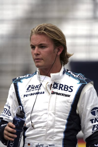 2006 USA Grand Prix - Friday Practice Indianapolis, Indiana, USA. 29th June - 2nd July. Nico Rosberg, Williams FW28-Cosworth, portrait. World Copyright: Steven Tee/LAT Photographic ref: Digital Image YY2Z4323