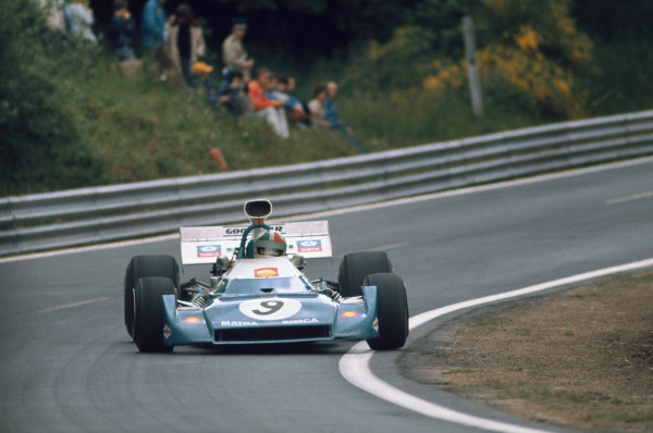 1972 French Grand Prix.  Clermont-Ferrand, France. 30th June - 2nd July 1972.  Chris Amon, Matra MS120D, 3rd position.  Ref: 72FRA54. World Copyright: LAT Photographic