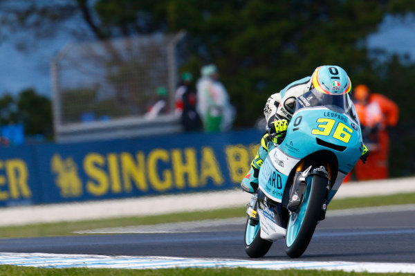 2017 Moto3 Championship - Round 16 Phillip Island, Australia. Friday 20 October 2017 Joan Mir, Leopard Racing World Copyright: Gold and Goose / LAT Images ref: Digital Image 23277