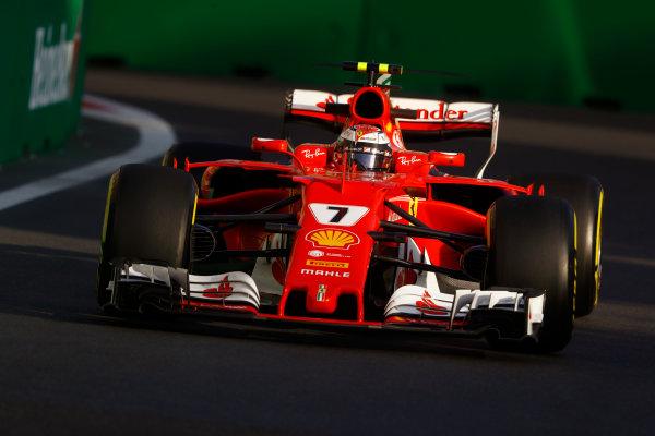 Baku City Circuit, Baku, Azerbaijan. Friday 23 June 2017. Kimi Raikkonen, Ferrari SF70H.  World Copyright: Steven Tee/LAT Images ref: Digital Image _O3I1731
