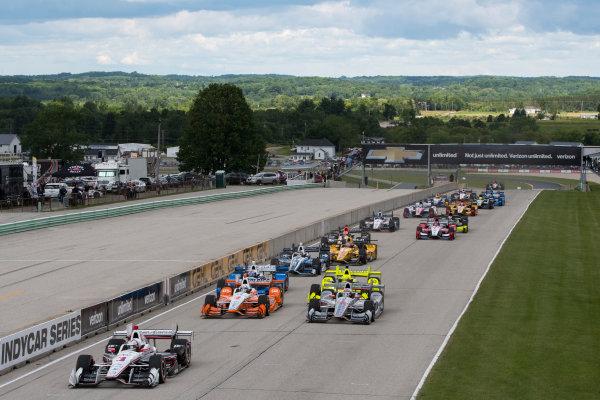 Verizon IndyCar Series Kohler Grand Prix Road America, Elkhart Lake, WI USA Sunday 25 June 2017 Race Start World Copyright: Geoffrey M. Miller LAT Images