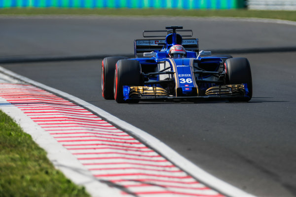 Hungaroring, Budapest, Hungary.  Wednesday 02 August 2017. Nobuharu Matsushita, Sauber C36 Ferrari. World Copyright: Zak Mauger/LAT Images  ref: Digital Image _56I8989