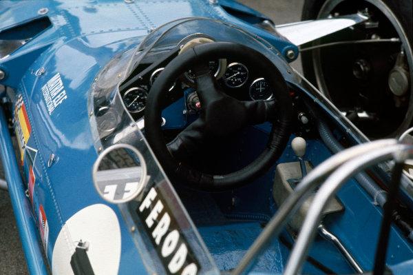 Monte Carlo, Monaco. 26 May 1968. The cockpit of a Matra MS10. World Copyright: LAT Photographic. Ref: 68MON13.
