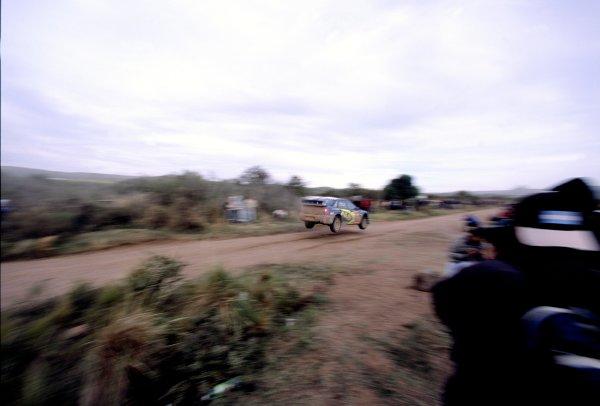 2003 World Rally ChampionshipRally Argentina, Cordoba, Argentina, 7th - 11th May 2003.Petter Solberg/Philip Mills (Subaru Impreza WRC 2003), action.World Copyright: LAT Photographicref: 03WRCArg10