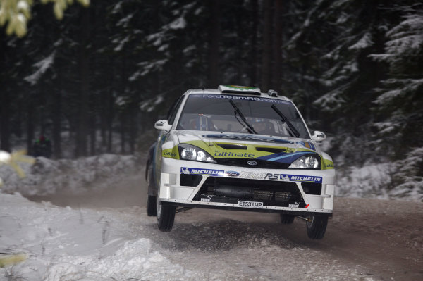 2005 FIA World Rally Champs. Round two Swedish Rally.10th-13th February 2005.Roman Kresta, Ford, action.World Copyright: McKlein/LAT