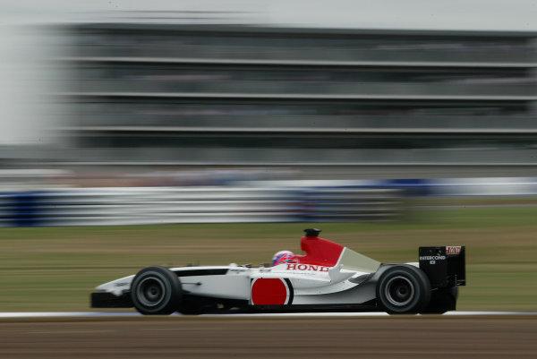 2003 British Grand Prix - Friday 1st Qualifying,Silverstone, Britain. 18th July 2003 Jenson Button, BAR Honda 005, action.World Copyright: Steve Etherington/LAT Photographic ref: Digital Image Only