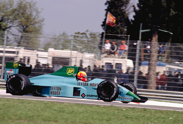 1989 San Marino Grand Prix.Imola, Italy.21-23 April 1989.Mauricio Gugelmin (March 881 Judd).Ref-89 SM 20.World Copyright - LAT Photographic