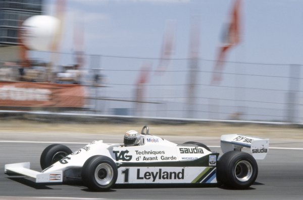 1981 Spanish Grand Prix.Jarama, Spain. 19-21 June 1981.Alan Jones (Williams FW07C-Ford Cosworth), 7th position.World Copyright: LAT PhotographicRef: 35mm transparency 81ESP25