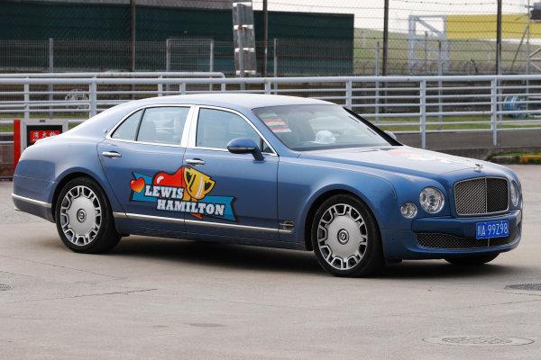 Shanghai International Circuit, Shanghai, China.  Saturday 08 April 2017. A Lewis Hamilton-liveried Bentley. World Copyright: Steven Tee/LAT Images ref: Digital Image _R3I3941