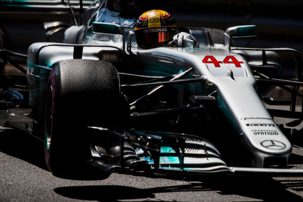 Monte Carlo, Monaco. Sunday 28 May 2017. Lewis Hamilton, Mercedes F1 W08 EQ Power+. World Copyright: Zak Mauger/LAT Images ref: Digital Image _54I8770