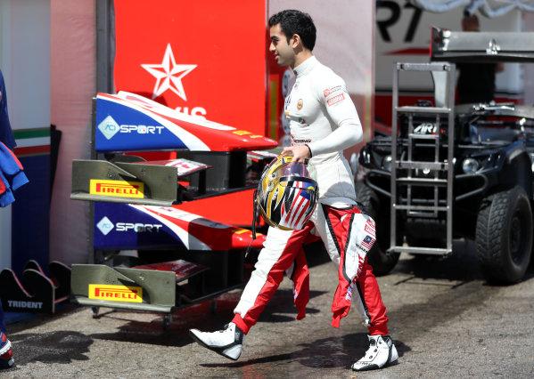 2017 FIA Formula 2 Round 2. Circuit de Catalunya, Barcelona, Spain. Thursday 11 May 2017. Nabil Jeffri, Trident Photo: Jed Leicester/FIA Formula 2. ref: Digital Image JL2_9827