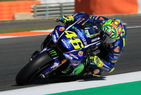 2017 MotoGP Championship - Valencia test, Spain. Tuesday 14 November 2017 Valentino Rossi, Yamaha Factory Racing World Copyright: Gold and Goose / LAT Images ref: Digital Image 706838