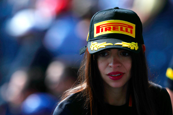 Autodromo Hermanos Rodriguez, Mexico City, Mexico. Saturday 28 October 2017. A fan wears a Pirelli cap. World Copyright: Sam Bloxham/LAT Images  ref: Digital Image _W6I9910