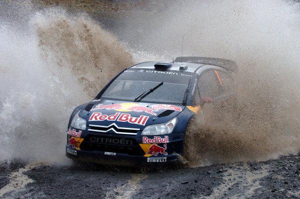 Kimi Raikkonen (FIN) Citroen C4 WRC on stage 3. World Rally Championship, Rd13, Wales Rally GB, Day One, Cardiff, Wales, 11 November 2010.