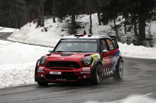 Pierre Campana (FRA), Mini John Cooper Works WRC, after stage 11. FIA World Rally Championship, Rd1, Rallye Monte-Carlo, Monaco, Day Three, Friday 20 January 2012.