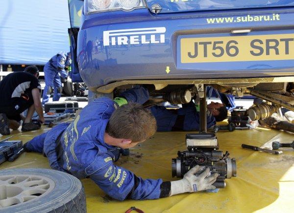 2008 FIA World Rally ChampionshipRound 06Rally d'Italia Sardegna 200815-18 of May 2008Subaru service.