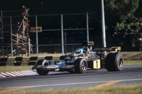 1974 Argentinian Grand Prix  Buenos Aires, Argentina. 11-13th January 1974.  Ronnie Peterson, Lotus 72E Ford, 13th position.  Ref: 74ARG08. World Copyright: LAT Photographic