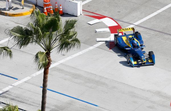 2014/2015 FIA Formula E Championship. Long Beach ePrix, Long Beach, California, United States of America. Friday 3 April 2015 Nicolas Prost (FRA)/E.dams Renault - Spark-Renault SRT_01E  Photo: Jed Leicester/LAT/Formula E ref: Digital Image _JL20234