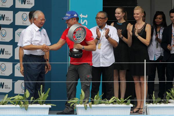 Putrajaya E-Prix, Race. Putrajaya E-Prix, Malaysia - 20th-22nd November 2014. Saturday 22 November 2014.  Photo: Michael Hoyer - Jakob Ebrey/LAT/ Formula E ref: Digital Image EL0G1751