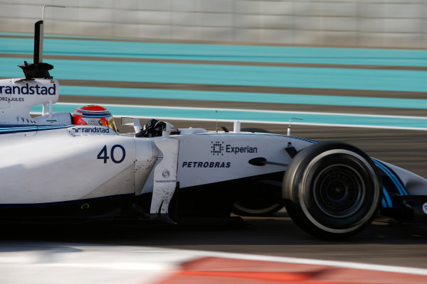Yas Marina Circuit, Abu Dhabi, United Arab Emirates. Wednesday 26 November 2014. Felipe Nasr, Williams FW36 Mercedes. World Copyright: Glenn Dunbar/LAT Photographic. ref: Digital Image _W2Q8583
