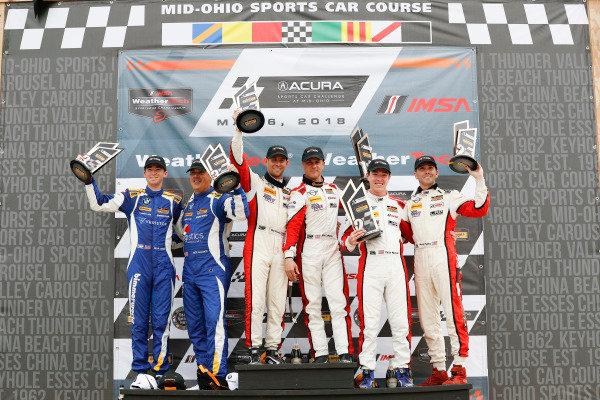 #73 MINI JCW Team, MINI JCW, ST: Mat Pombo, Mike LaMarra, podium, #52 MINI JCW Team, MINI JCW, ST: Mark Pombo, Colin Mullan, #81 BimmerWorld Racing, BMW 328i, ST: Nick Galante, Devin Jones