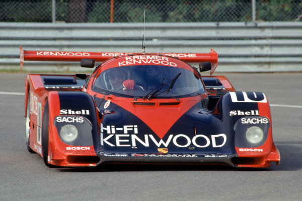 Montreal 480 Kms. Montreal, Quebec, Canada. 23rd September 1990. Rd 8.Bernd Schneider/Jurgen Barth (Porsche 962CK6), 4th position, action. World Copyright: Murenbeeld/LAT PhotographicRef: 90MONT04