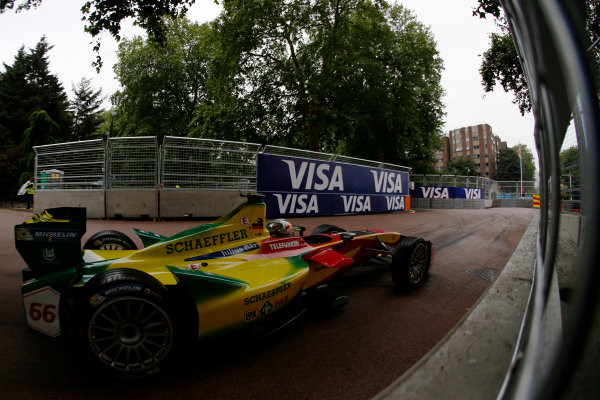 2014/2015 FIA Formula E Championship. London ePrix, Battersea Park, London, United Kingdom. Sunday 28 June 2015 Daniel Abt (GER)/Audi Abt Sport - Spark-Renault SRT_01E  Photo: Zak Mauger/LAT/Formula E ref: Digital Image _L0U0083