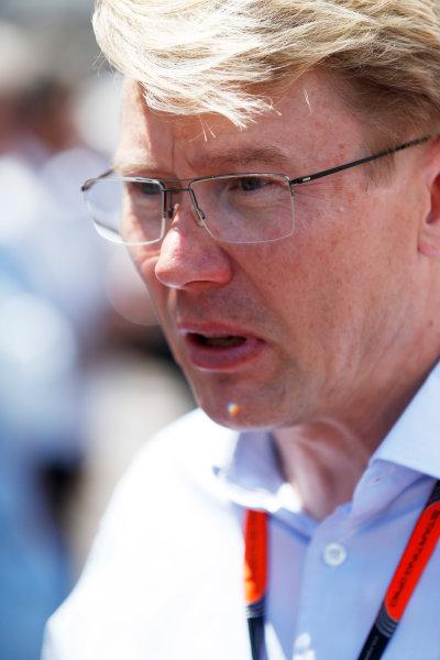 Monte Carlo, Monaco. Sunday 24 May 2015. Mika Hakkinen. World Copyright: Sam Bloxham/LAT Photographic. ref: Digital Image _SBL1460