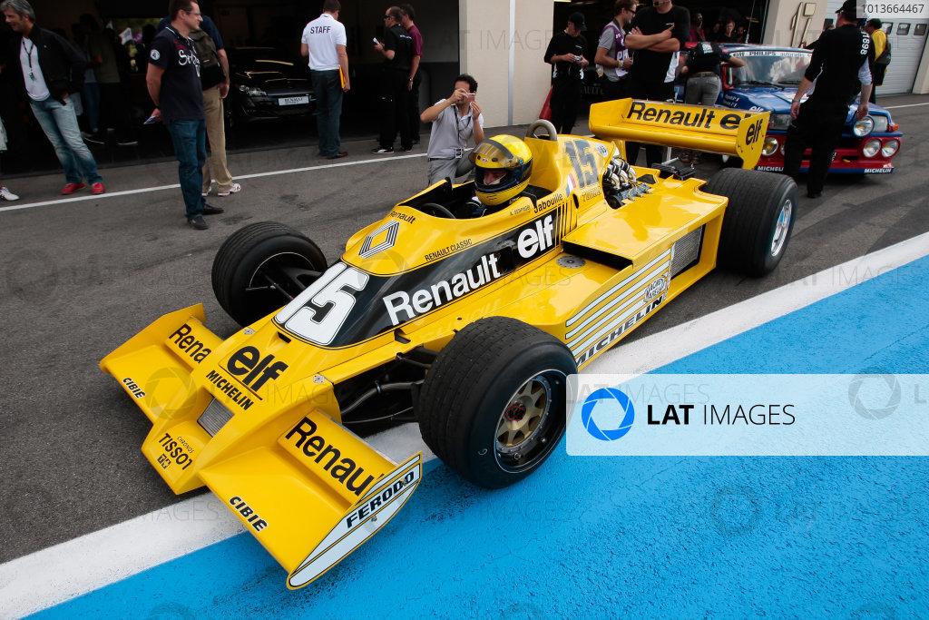 PAUL RICARD (FRA) SEP 16-18 2011 - Round 6 of the Formula Renault 3 5 race 2011 at Paul Ricard. The 1977 Renault F1 Turbo car. Action. © 2011 Diederik van der Laan / LAT Photographic
