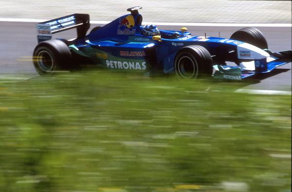 2001 Austrian Grand Prix.A1-Ring, Zeltweg, Austria.11-13 May 2001.Kimi Raikkonen (Sauber C20 Petronas) 4th position.World Copyright - Steven Tee/LAT Photographicref: 35mm Image A17
