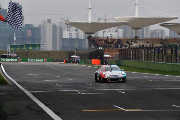 Li Chao (CHN) Porsche Beijing Central and Goldenport at Porsche Carrera Cup Asia, Shanghai, China, 13-15 April 2018.